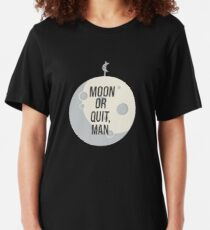 Parks and Recreation - The Moon Shall Join Your Coalition Slim Fit T-Shirt