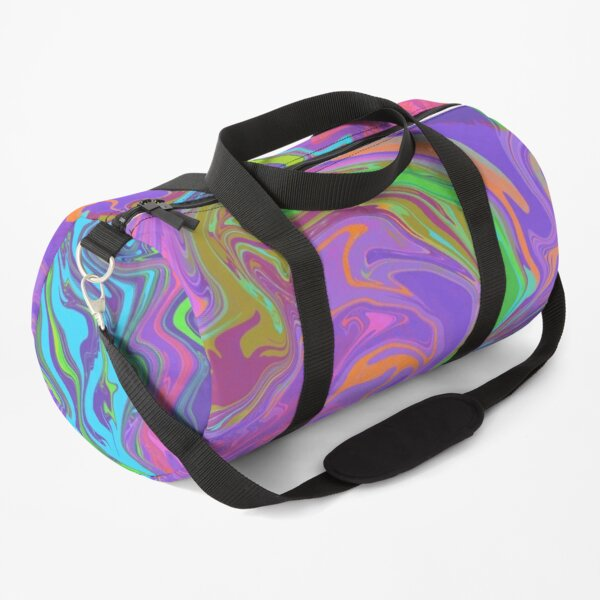 LSD (abstract marble, acrylic pouring) Duffle Bag