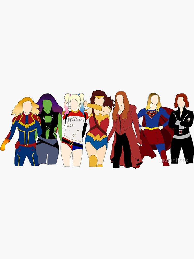 female superheroes by laurenflanz
