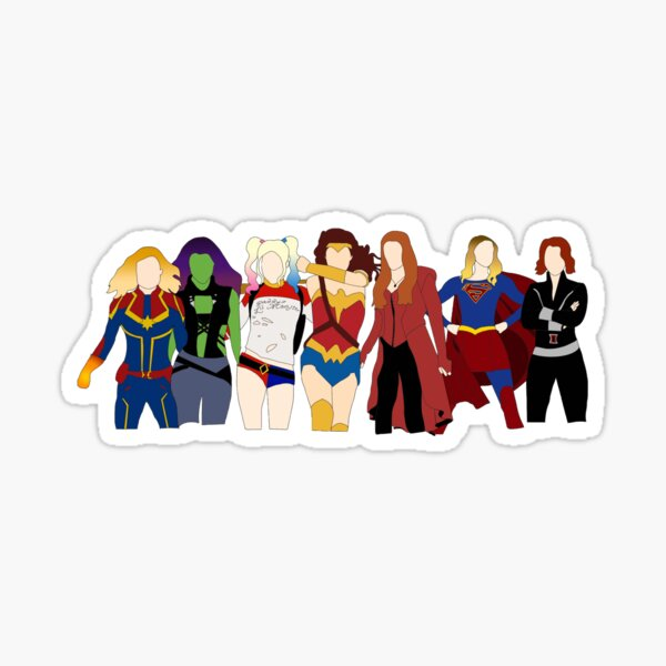 female superheroes Sticker