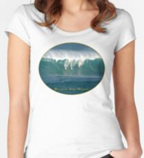 Big Wave Contest Hawaii Women's Fitted Scoop T-Shirt