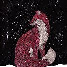 Leafy Fox in the Snow by samclaire