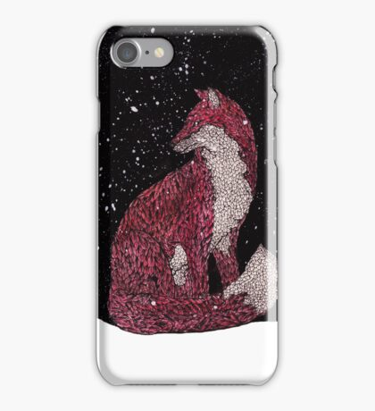 Leafy Fox in the Snow iPhone Case/Skin