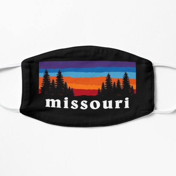 Missouri Forest Outdoor Hiking St. Louis Blues Kansas City State Flag Sunset Gift Ideas Mask