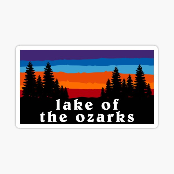 Lake of the Ozarks Missouri Forest Outdoor Hiking Kansas City State Flag Sunset Gift Ideas Sticker