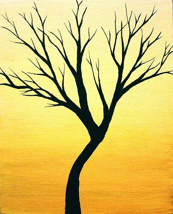 Tiny Tree Yellow by Erin Scott