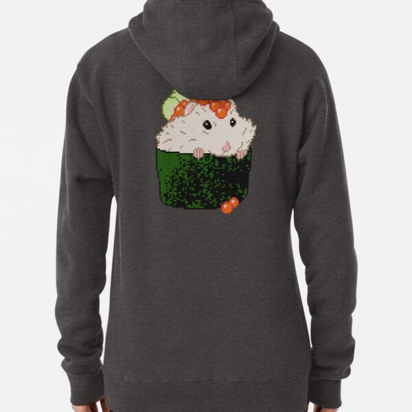 Cross Stitch Sushi Hamster Pullover Hoodie