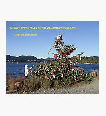 Merry Christmas From Vancouver Island Photographic Print
