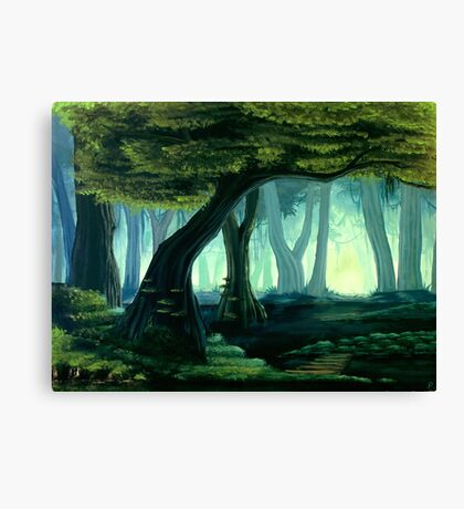 A Murky Stroll Canvas Print