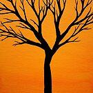 Tiny Tree Orange by Erin Scott