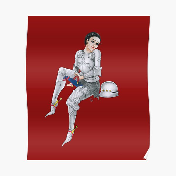 Gothic Knight Pin Up Girl Poster