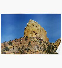 Rock wall and boulders Poster
