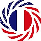 French American Multinational Patriot Flag Series by Carbon-Fibre Media