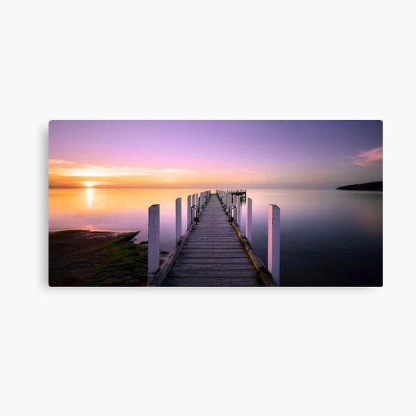 Safety Beach Jetty Sunset Canvas Print