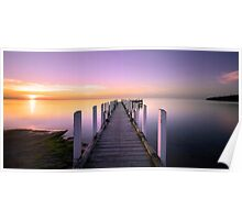Safety Beach Jetty Sunset Poster
