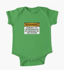WARNING: SUBJECT TO SPONTANEOUS OUTBREAKS OF AIR GUITAR One Piece - Short Sleeve
