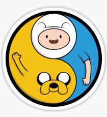 Jake & Finn Yin Yang Sticker