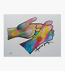 Lead Me Gently - American Sign Language Photographic Print