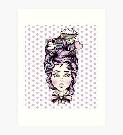 Teacake Lady Art Print
