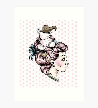 Tea Cup Lady Art Print