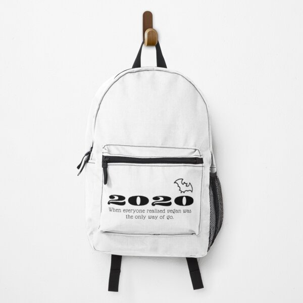 2020 when everyone realised vegan was the only way to go Backpack