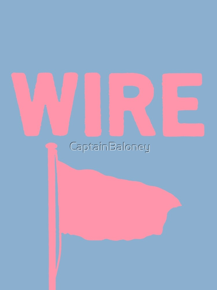 Wire - Pink Flag | Canvas Print