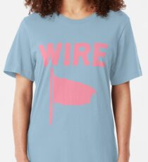 Draht - Rosa Flagge Slim Fit T-Shirt