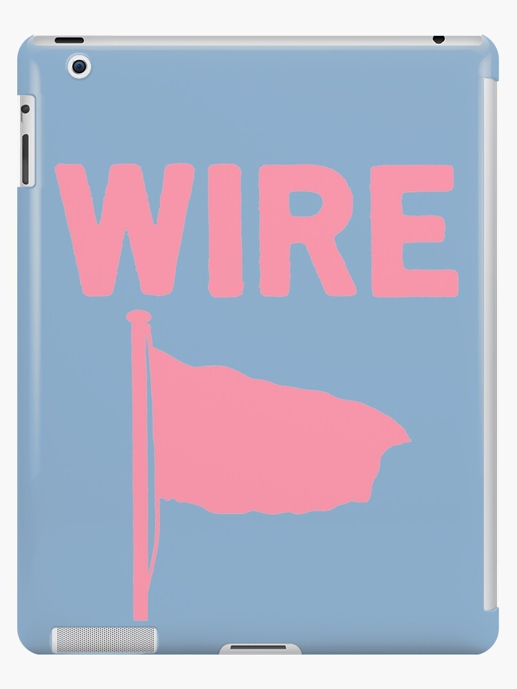 'Wire - Pink Flag' iPad Case/Skin by CaptainBaloney