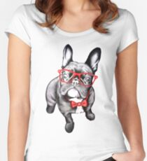 Happy Dog Women's Fitted Scoop T-Shirt