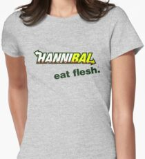 "Hannibal ""Eat Flesh"" Women's Fitted T-Shirt"