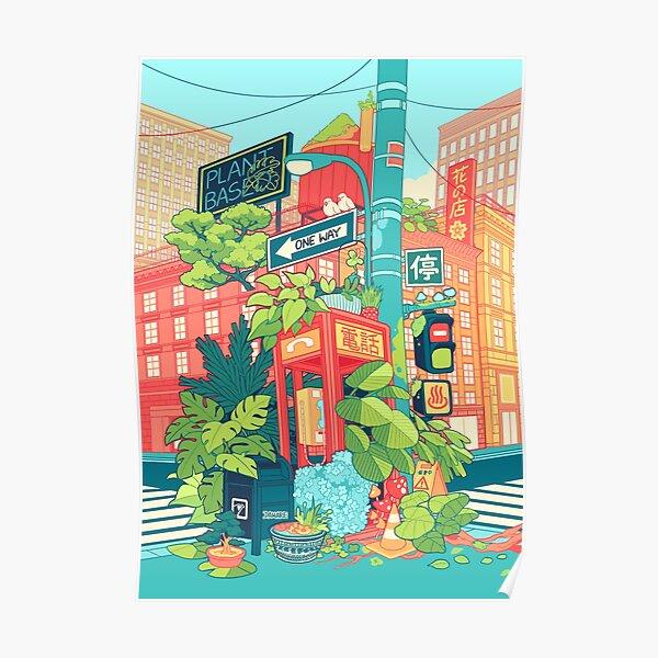Urban Flowers Poster