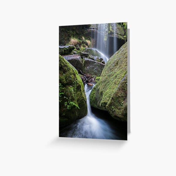 Rinadeena Falls detail, Tasmania a Greeting Card