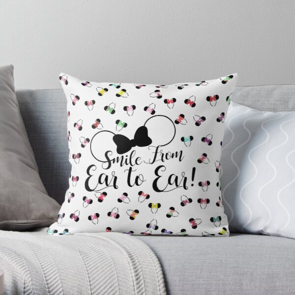 Smile from ear to ear - bow ears Throw Pillow