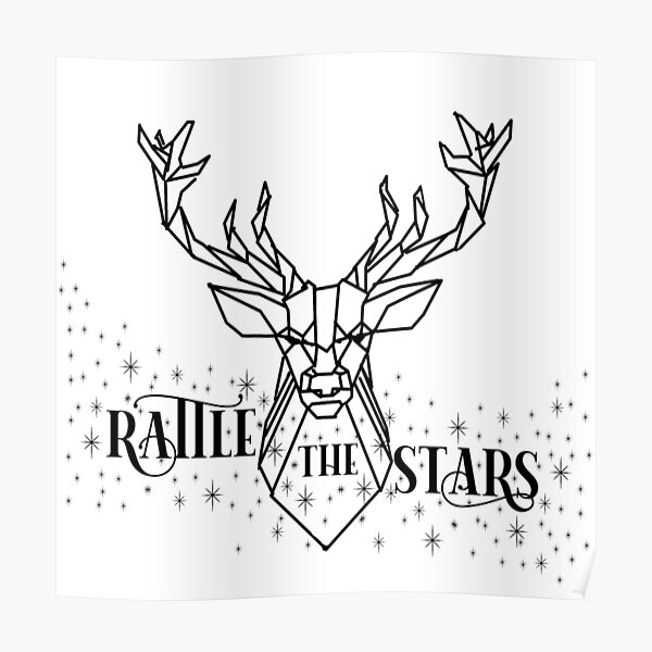 Rattle the stars Geometric Poster