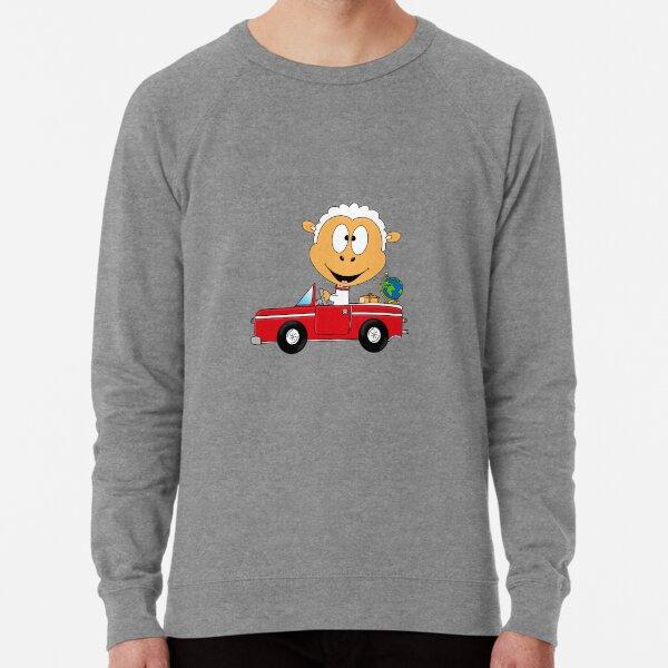 Lustiges Schaf - Sheep - Cabrio - Auto - Car - Weltenbummler - Weltreise - Reise - Fun Leichter Pullover