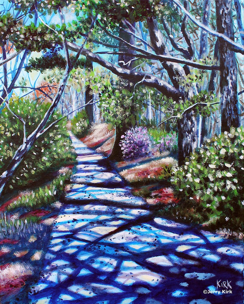 'THE WALK AROUND BROYHILL PARK (#2)'  by Jerry Kirk
