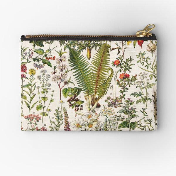 Adolphe Millot - Plantes Medicinales B - French vintage poster Zipper Pouch