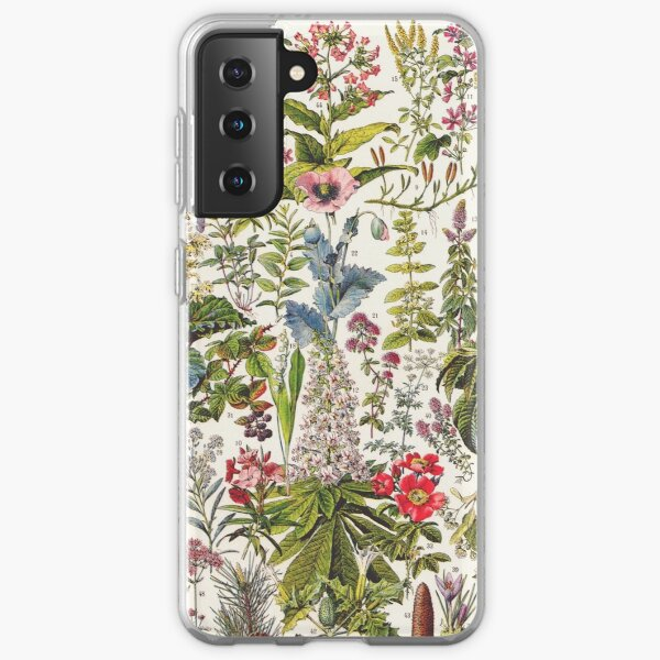 Adolphe Millot - Plantes Medicinales A - French vintage poster Samsung Galaxy Soft Case