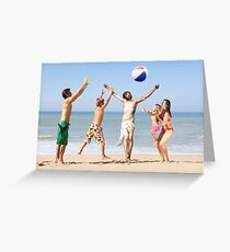 Jesus Playing On The Beach Greeting Card
