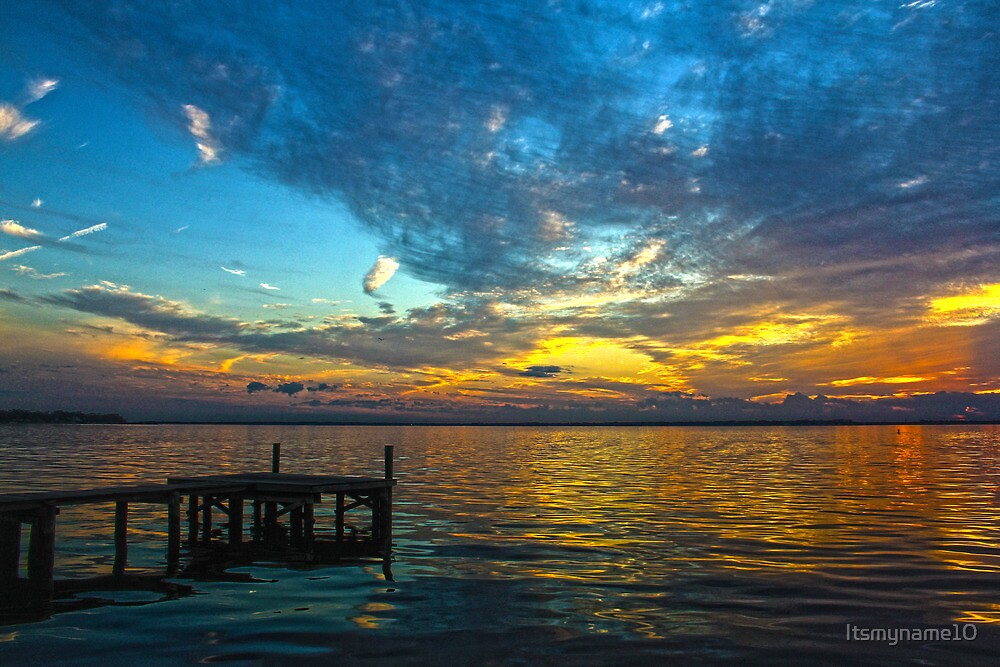 Dock at Sunset by Itsmyname10