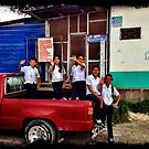 Waving Goodbye - Santa Rosa de Copan, Honduras by Jessica Chirino Karran