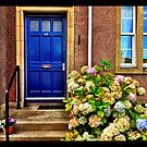 Blue Door, Melrose Borders, Scotland by Jessica Chirino Karran