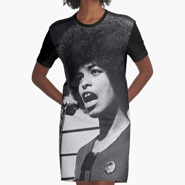 Angela Davis old photo (HQ) Graphic T-Shirt Dress