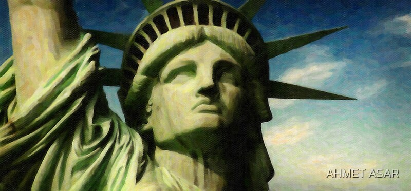 Quot Statue Of Liberty Face Close Up 3 Quot By Adam Asar Redbubble