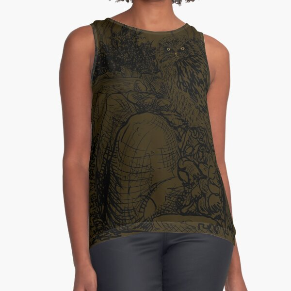 The Owl still sat on the Dolmen (A Tribute to Jan Mankes)  Sleeveless Top