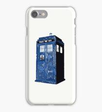 Saturated tardis iPhone Case/Skin