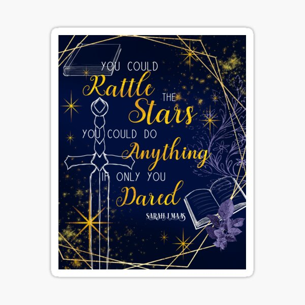 You could rattle the stars in navy and gold Sticker
