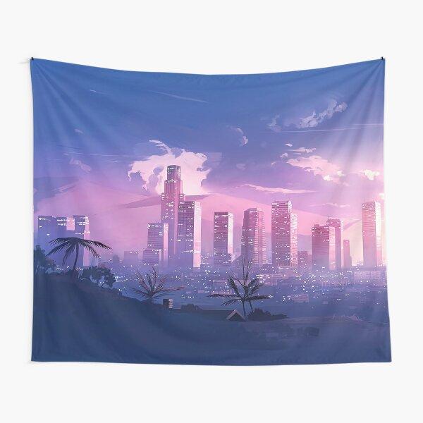 Retrowave Los Angeles Tapestry