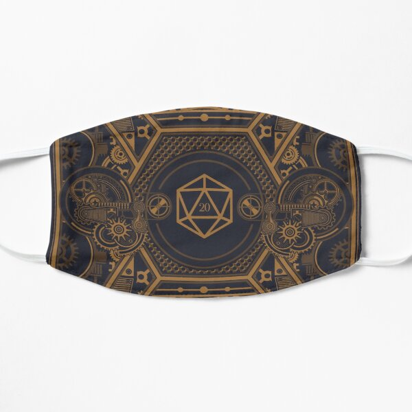 Steampunk Vintage Polyhedral 20 Sided Dice Nat20 Mask
