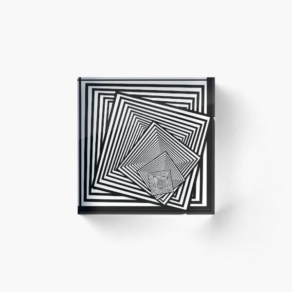 Twisting optical squares 3 Acrylic Block